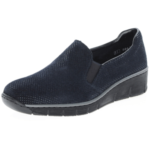 Rieker - 53766-18 Low Wedge Shoe, Navy