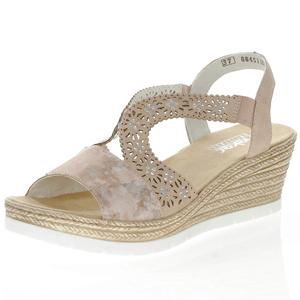Rieker - 61916-31 Low Wedge Sandal, Rose