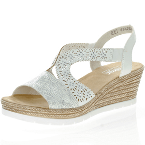 Rieker - 61916-80 Low wedge Sandal, White