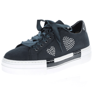 Rieker - N4908-14 Ribbon Lace Trainer, Navy