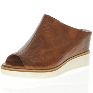 Tamaris - 27200 Leather Wedge Sandal, Cognac