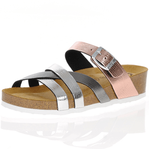 Ara - 17272 Metallic Mule Sandal, Rose Gold