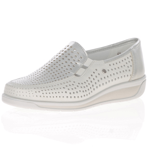Ara - 36337 Walking Shoe, Off White / Silver