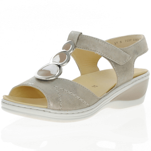 Ara - 39055 Low Wedge Sandal, Taupe