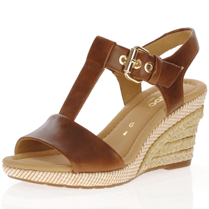 Gabor - 824.54 Leather Wedge Sandal, Brown