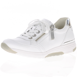 Gabor - 973.50 Rolling Soft Leather Trainer, White