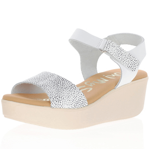 Oh My Sandals - 4577 Platform Wedge Sandals, White
