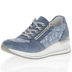 Remonte - D3203-14 Low Wedge Trainer, Blue