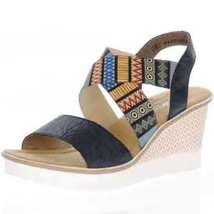 Rieker - 68518-14 Wedge Sandal, Blue