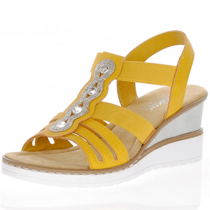 Rieker - V3572-68 Wedge Sandal, Yellow
