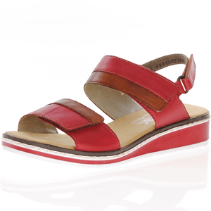 Rieker - V36B9-33 Leather Walking Sandal, Red
