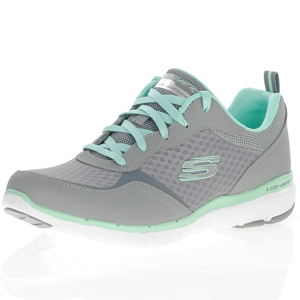 Skechers - Flex Appeal 3.0 Go Forward, Grey - Mint