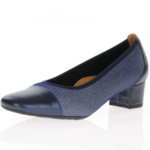 Softmode - Ella Block Heel Pump, Navy