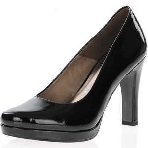 Tamaris - 22426 Patent Heeled Pump, Black