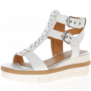 Tamaris - 28227 Gladiator Sandal, White