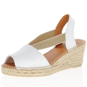 Toni Pons - Teide-P Low Wedge Espadrille, White