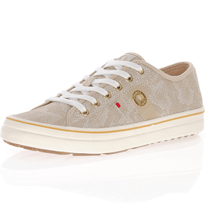 s.Oliver - 23640 Metallic Trainer, Champagne