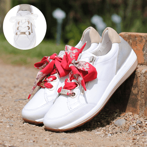 Ara - 34587 Leather Trainer, White