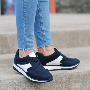 Tamaris - 23713 Lace Up Trainer, Navy