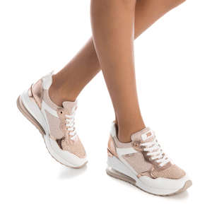 Xti - 42631 Sporty Low Wedge Trainer, Rose Gold