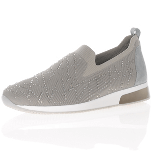 Ara - 24067 Fusion Slip On Trainer, Oyster