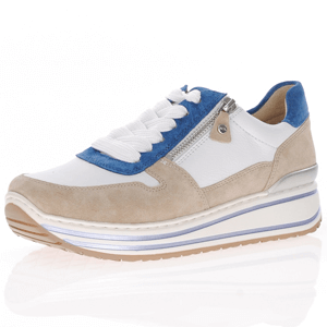 Ara - 32461 Leather Flatform Trainer, White