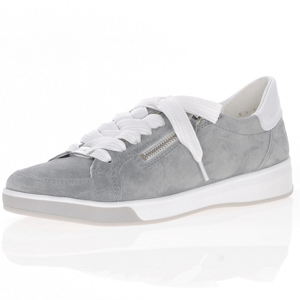 Ara - 34432 Suede Lace Up Trainer, Grey