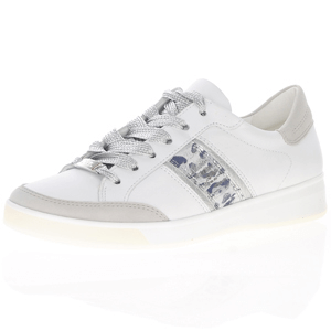 Ara - 34471 Leather Lace Up Trainers, White