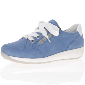 Ara - 34587 Nubuck Leather Trainer, Denim