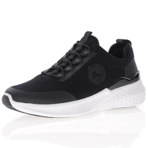 Ara - 54514 Elastic Lace Trainer, Black