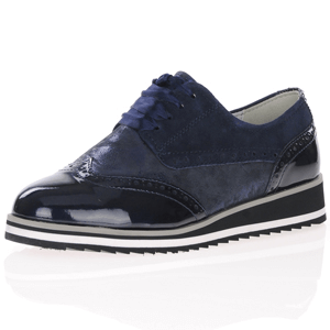 Caprice - 23300 Leather Lace Up Shoe, Navy