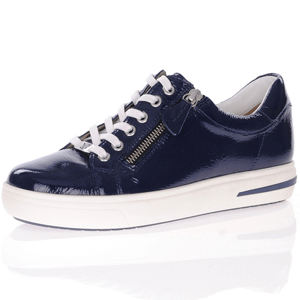 Caprice - 23753 Patent Leather Trainer, Marine