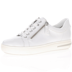Caprice - 23753 Patent Leather Trainer, White