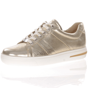 Caprice - 23754 Leather Lace Up Trainer, Gold