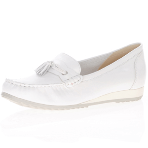 Caprice - 24250 Leather Moccasin, White