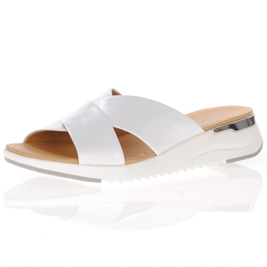 Caprice - 27200 Patent Leather Mule Sandal, White