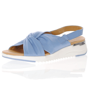 Caprice - 28700 Leather Sling Back Sandal, Blue