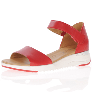 Caprice - 28706 Leather Sandal, Red