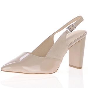 Caprice - 29604 Leather Sling Back Heel, Sand