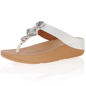 Fitflop - Leia Toe Post Sandals, Urban White