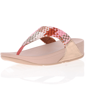 Fitflop - Lulu Silky Weave Toe Post Sandals, Pink