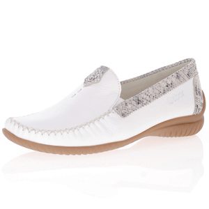 Gabor - 090.52 Flat Leather Moccasin, White