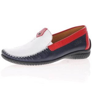 Gabor - 090.68 Flat Leather Moccasin, Navy