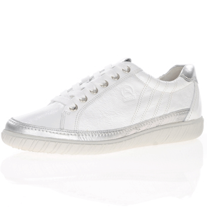 Gabor - 458.61 Leather Lace Up Trainer, White