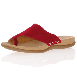 Gabor - 700.15 Leather Toe Post Sandal, Red