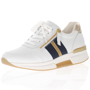 Gabor - 928.60 Rolling Soft Leather Trainer, White Multi
