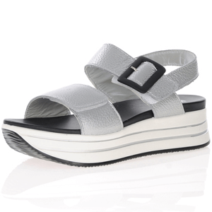 Igi & Co - 7162022 Leather Platform Sandal, Silver