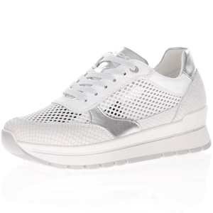 Igi & Co - 7150722 Leather Low Wedge Trainer, White
