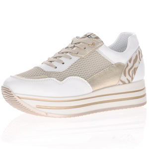 Igi & Co - 7152200 Leather Platform Trainer, White-Gold