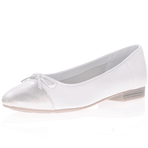 Jana - 22150 Soft Line Leather Pump, White
